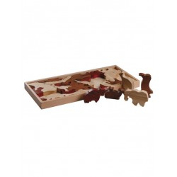 Magic Forest Red Wood Puzzle Series - Animal Puzzle