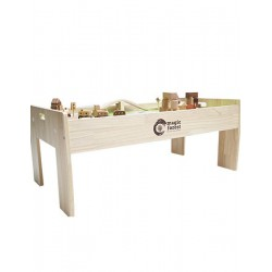 Magic Forest Play Table + Magic Forest Red Wood Set Series - Train Set (57 pieces) - Combo
