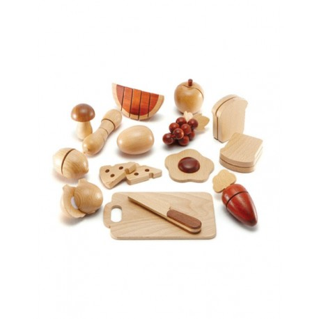 Magic Forest Red Wood Set Series - Fruit Set (18 pieces)