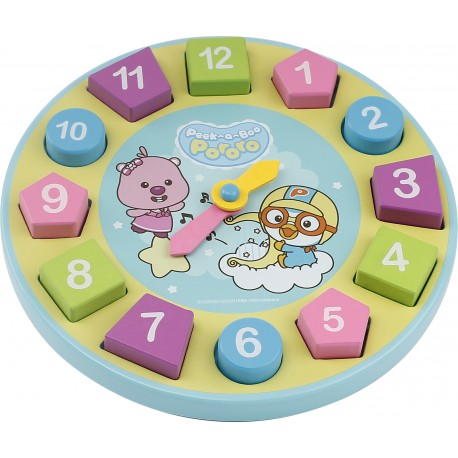 Pororo Wooden Toys Learning Clock