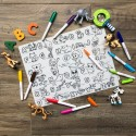 Our Button Nose Reusable Silicone Colouring Mat 40cm x 30cm (Learning ABC Series)