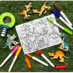 Reusable Silicone Colouring Mat 20cm x 15cm (Jurassic World)