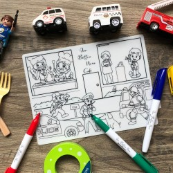 Reusable Silicone Colouring Mat 20cm x 15cm (Occupation)