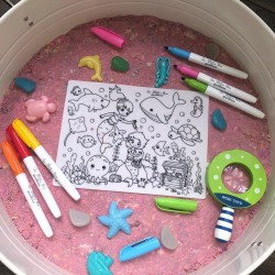 Reusable Silicone Colouring Mat 20cm x 15cm (Under the Ocean)