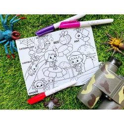 Our Button Nose Reusable Silicone Colouring Mat by Our Button Nose 20cm x 15cm (World of Crawlier)