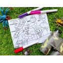 Reusable Silicone Colouring Mat by Our Button Nose 20cm x 15cm (World of Crawlier)