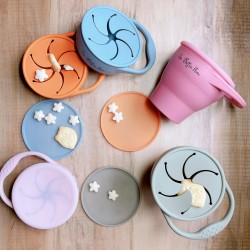 Our Button Nose Collapsible Silicone Snack Cup