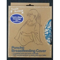 Double Monkeys Poncho Breastfeeding Cover front and back coverage (100% Cotton)