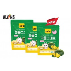 ALVINS Korean Rice Snack (Sweet Pumpkin) x 3 Pkt