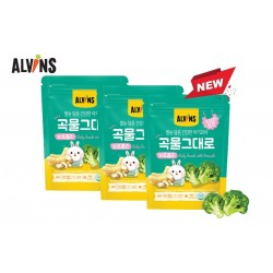 ALVINS Korean Rice Snack (Broccoli) x 3 Pkt