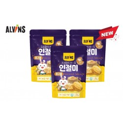 "ALVINS Korean Rice Snack ""Injeolmi"" (Powdered Soybean) x 3 Pkt"