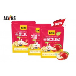 ALVINS Korean Rice Snack (Apple) x 3 Pkt