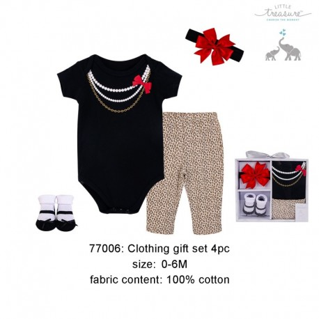 Little Treasure 4 pieces Baby Girl Clothing Gift Set 77006