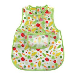 Luvable Friends 100% Peva Easy Clean Feeding Baby Apron Water Resistant Bib Green (01015)