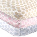 Luvable Friends Baby Flannel Fitted Crib Sheet (Beige / Blue)