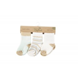 Touched By Nature Touch Organic 3 Pieces Baby Cotton Socks Neutral