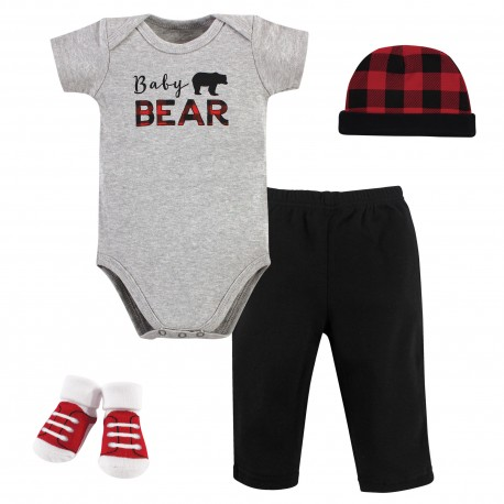 Little Treasure 4 Pieces Baby Clothing Gift Set - Bear