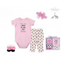 Little Treasure 4 Pieces Baby Clothing Gift Set - Flawless 77008