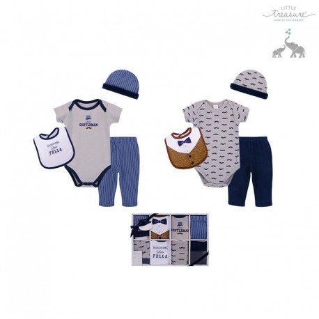 Little Treasure 8 Pieces Baby Clothing Gift Set - Cool 77010