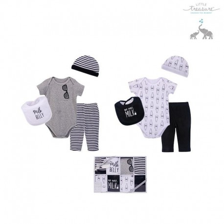 Little Treasure 8 Pieces Clothing Gift Set - Charming 77012