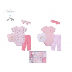 Little Treasure 8 Pieces Newborn Baby Girl Clothing Gift Set -Simply Cute 77014