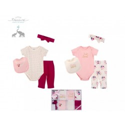 Little Treasure 8 Pieces Newborn Baby Girl Clothing Gift Set - So Loved 77016