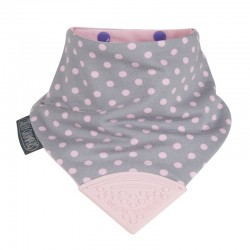 Cheeky Chompers Neckerchew Polka Dot Pink