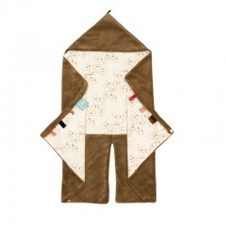 Snoozebaby Trendy Wrapping Wrap Blanket-Camel Bubbles