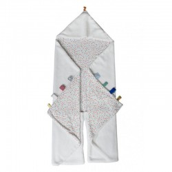 Snoozebaby Trendy Wrapping Wrap Blanket-Confetti White