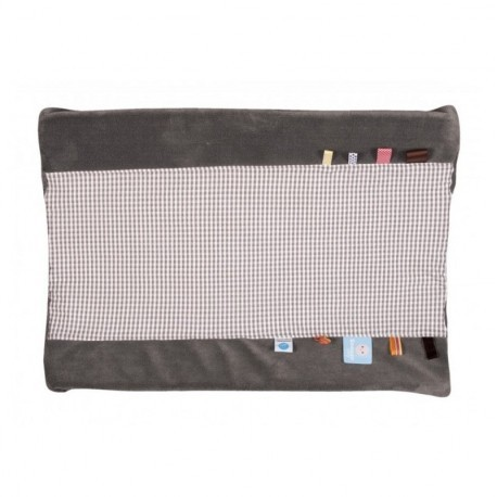 Snoozebaby Happy Dressing Changing Mat Cover - Hippo Grey (Organic Cotton)