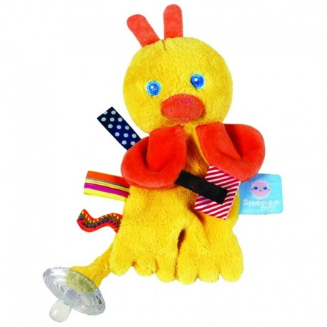 Snoozebaby Pacifier Holder - Flo the Cuddling Duckling