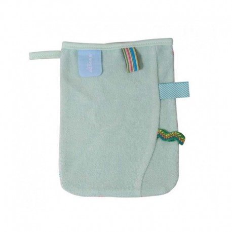 Snoozebaby Washing Glove - Organic Mint
