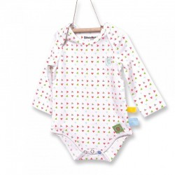 Snoozebaby Longsleeve Romper in Triangles