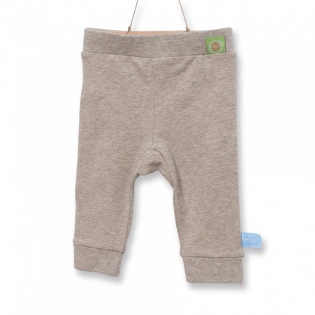 Snoozebaby Long Pants in Taupe Melange - 0 months