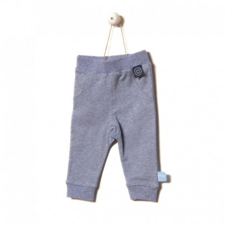 Snoozebaby Pants in Blue melange - 0 months