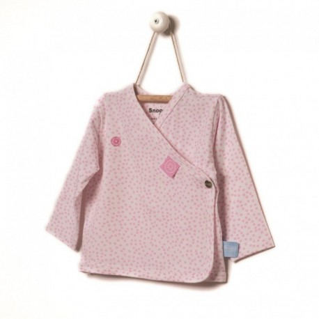 Snoozebaby Cardigan in Pink dot - 0 months