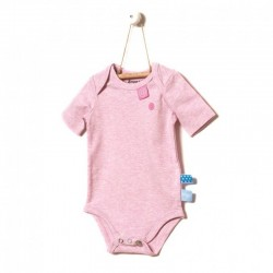 Snoozebaby Short sleeve Romper in Pink melange