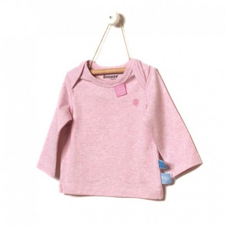 Snoozebaby Long sleeve Shirt in Pink melange - 0 months