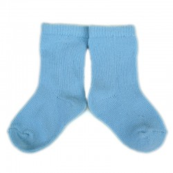 PLUSH Stay on socks (0-2yrs) - Baby Blue