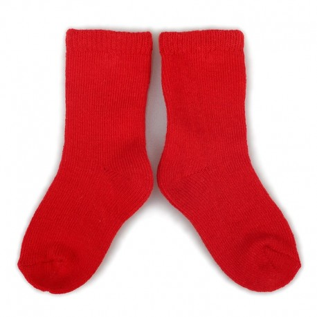 PLUSH® Stay on socks (0-2yrs) - Red