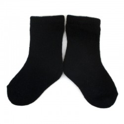 PLUSH Stay on socks (0-2yrs) - Black