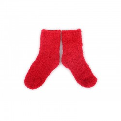 PLUSH Cozy Baby Socks 0-2 years - Red