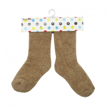 PLUSH® Cozy Baby Socks 0-2 years - Brown