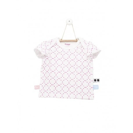Snoozebaby T-shirt ss stamped dot Funky Pink