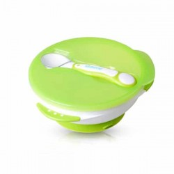 Kidsme Suction Bowl with Spoon Set (Lime)