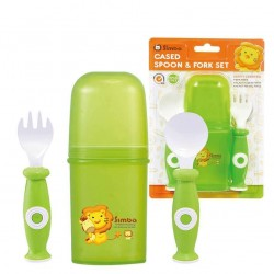 Simba Baby Cutlery Set with case (Green)