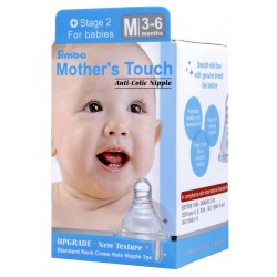 Simba Mother's Touch Standard Neck/Cross-Hole Anti-colic Nipple M
