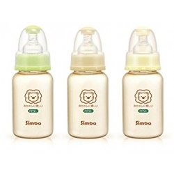 Simba Ultra Light Standard Neck Glass Feeding Bottle (120ml)