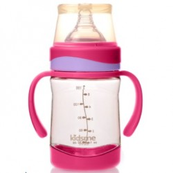 kidsme PPSU Milk Bottle with Handle (Pink)