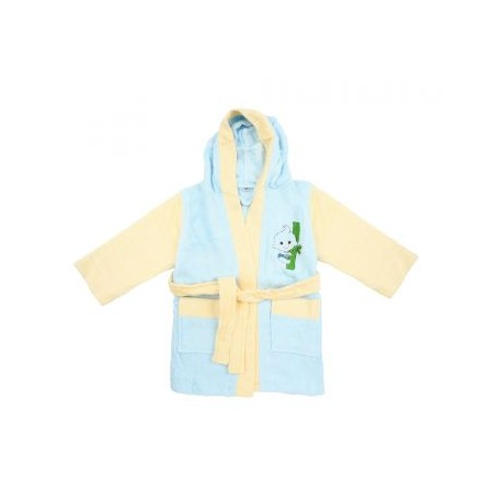 Bebe Bamboo 100% Bamboo Bathrobe Blue/Yellow (0-2YRS)